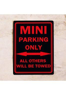 Парковочная табличка Mini