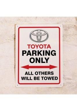 Парковочная табличка Toyota