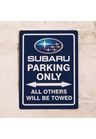 Парковочная табличка Subaru