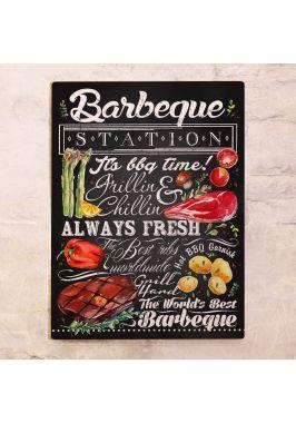 Металлический постер BBQ