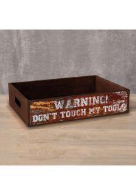 Деревянный ящик Don't touch my tools
