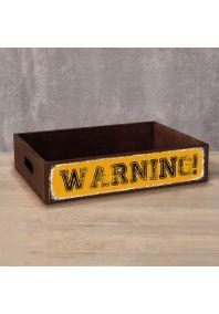 Деревянный ящик Warning