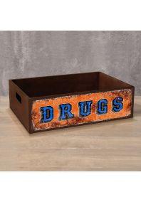 Деревянный ящик DRUGS