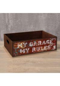 Деревянный ящик My Garage