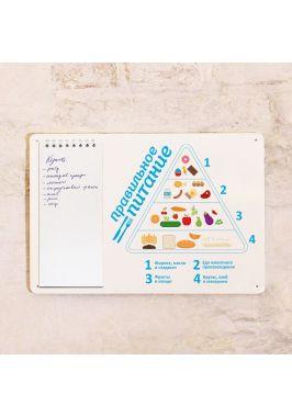 Табличка с блокнотом Правильно питание
