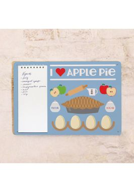 Табличка с блокнотом I love apple pie