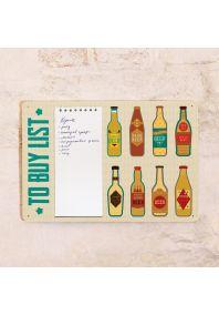 Табличка с блокнотом Buy beer