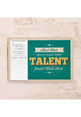 Табличка с блокнотом Талант
