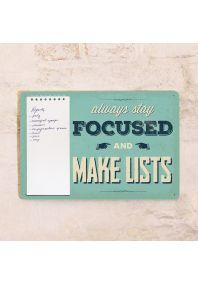 Табличка с блокнотом Make lists