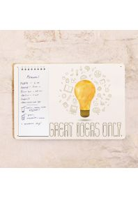 Табличка с блокнотом Great ideas only