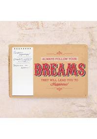 Табличка с блокнотом Dreams