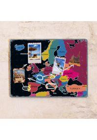 Цветная грифельная карта Европы  30х40 см