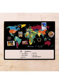 Черная грифельно-маркерная карта  60х80 см