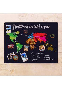 Political world map  60х80 см