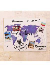 Декоративная маркерная карта Explore  30х40 см