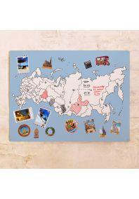 Классическая контурная карта России  60х80 см