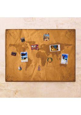 Винтажная декоративная карта  60х80 см