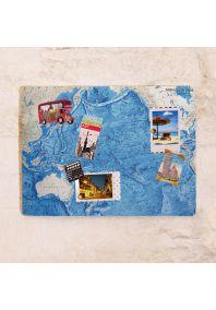 Карта дна Тихого океана  30х40 см
