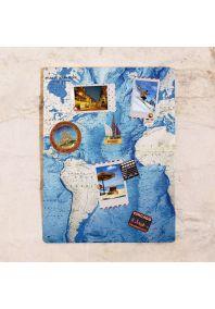 Карта дна Атлантического океана  30х40 см