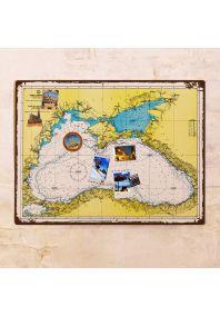 Карта Черного моря  60х80 см