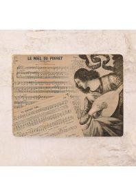 Винтажная жестяная табличка Звуки музыки