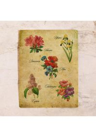 Жестяная табличка Цветы