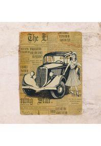 Жестяная табличка Девушка и автомобиль