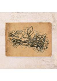 Жестяная табличка схема автомобиля