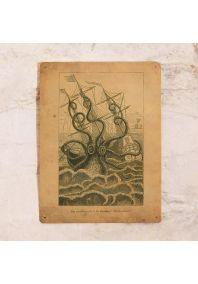 Жестяная табличка Морское чудовище