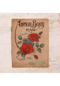 Жестяная табличка Розы