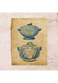 Жестяная табличка посуда