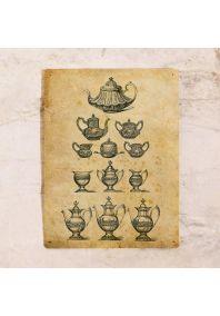 Жестяная табличка Чайнички