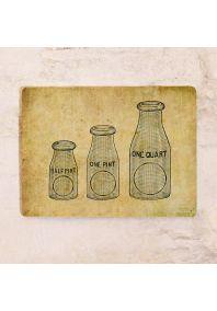 Жестяная табличка Склянки