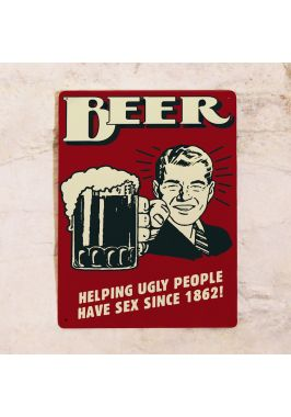 Жестяная табличка Пиво