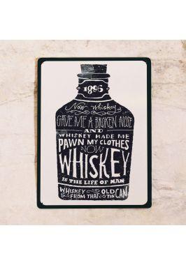 Жестяная табличка Whiskey