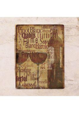 Жестяная табличка Vintage wine