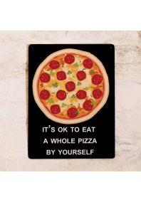 Жестяная табличка  для пиццерии