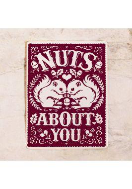 Жестяная табличка Nuts about you