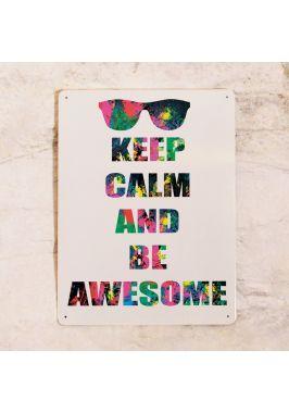 Жестяная табличка Be awesome