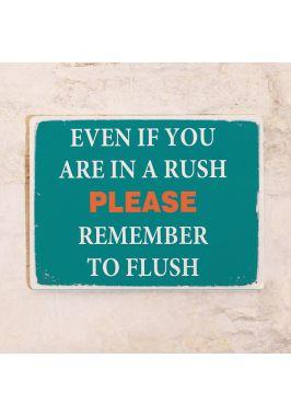 Табличка для туалета Не забывайте смывать!