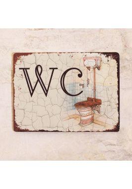 Табличка для туалета Винтажный WC