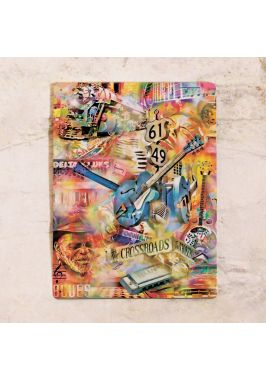 Жестяная табличка Guitar collage