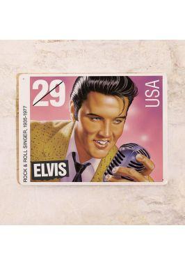 Жестяная табличка Elvis stamp