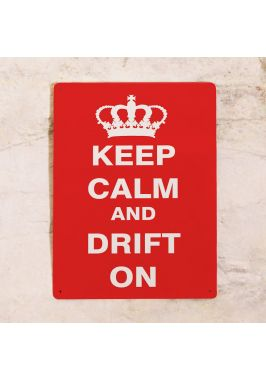 Жестяная табличка Drift on
