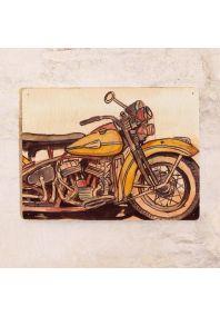 Табличка с мотоциклом