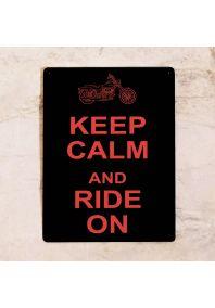 Прикольная табличка  Ride on