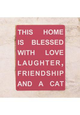 Прикольная табличка Blessed home