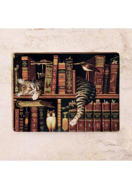 Жестяная табличка Книжный червь