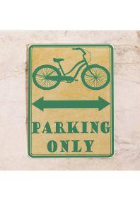 Парковочная табличка для велосипеда
