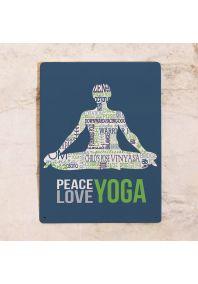 Жестяная табличка  Yoga